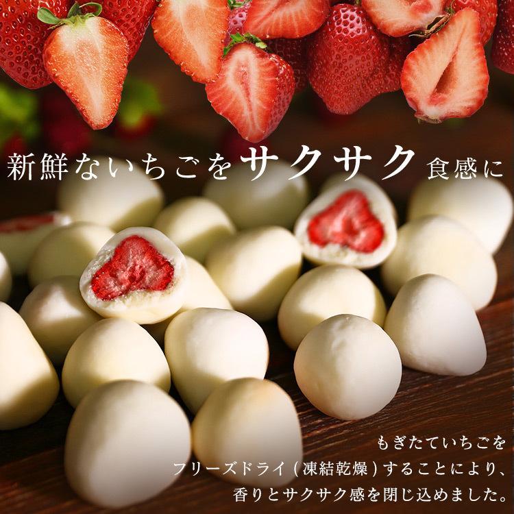 チョコレート いちご いちごチョコ フリーズドライ イチゴ バレンタイン まるごといちごチョコ ホワイトチョコがけ 300g  6001 クール便対応 (D) セール|komenokura|02