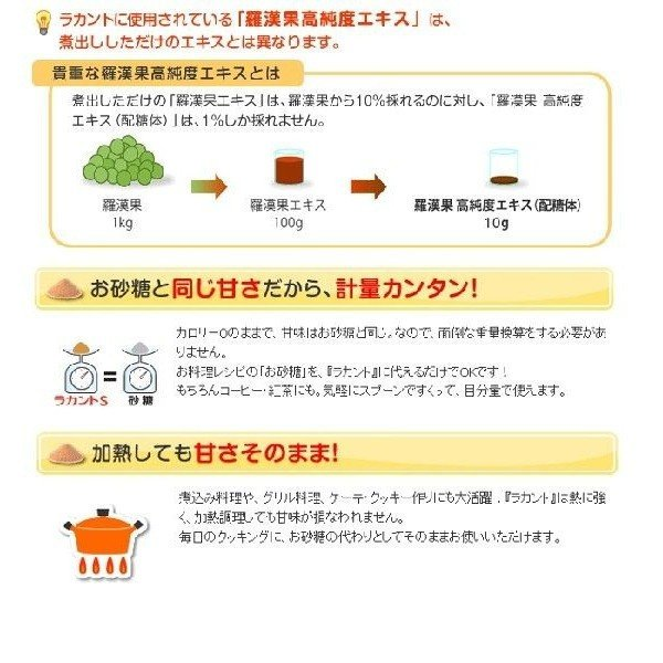 ラカント 糖類ゼロ 1kg ホワイト サラヤ カロリーゼロ オフ 甘味料 糖質 肥満 ダイエット ダイエット食品 お菓子作り|komenokura|03