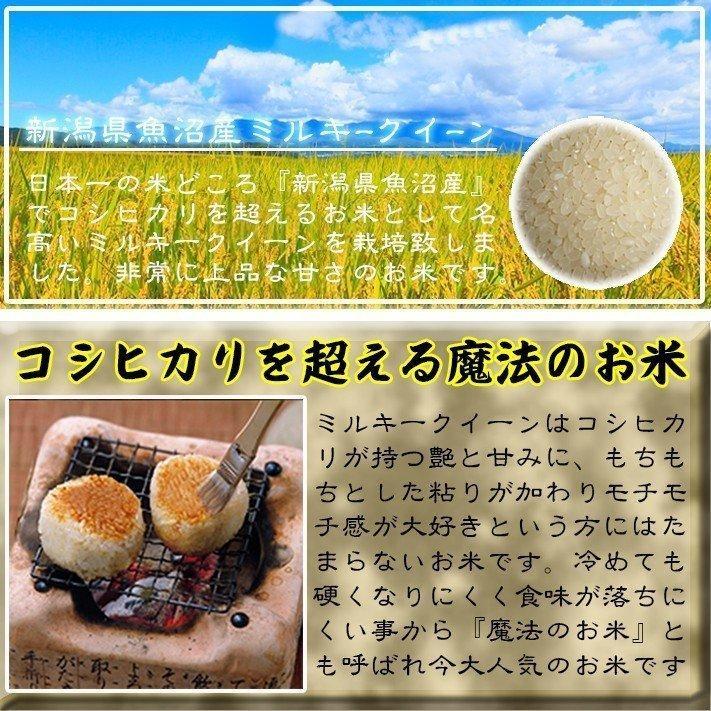 お米<送料無料>新潟県南魚沼産ミルキークイーン 玄米20kg 令和2年産米 精米無料|komenouka|05