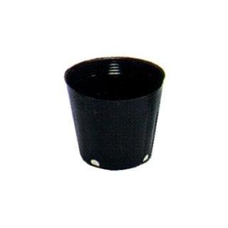 カド穴ポット 12cm 黒 100P 20個セット