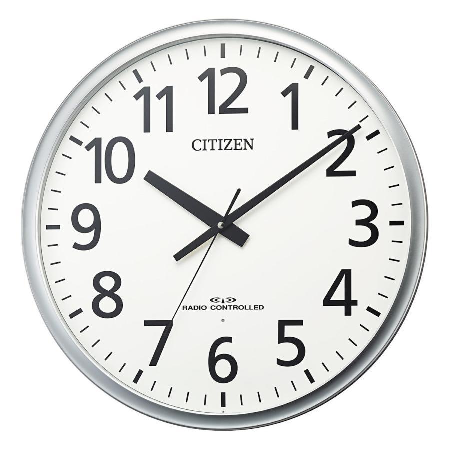 シチズン オフィスタイプ大型掛け時計 人気 シルバーメタリック 8MY547−019 マーケット