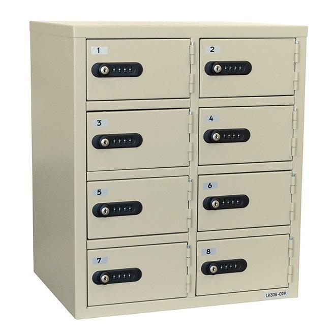 エーコ― 貴重品保管庫 2列4段/8人用 LK−308 数字ダイヤルロック式 エーコ― 貴重品保管庫 2列4段/8人用 LK−308 数字ダイヤルロック式