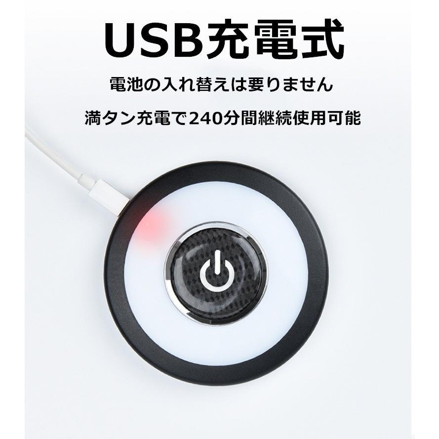 ルームランプ LEDライト マグネット吸着 タッチライト 車内 照明 USB充電 白光 青光 全2色 ポータブル 磁石 車内照明|komonogenza|02