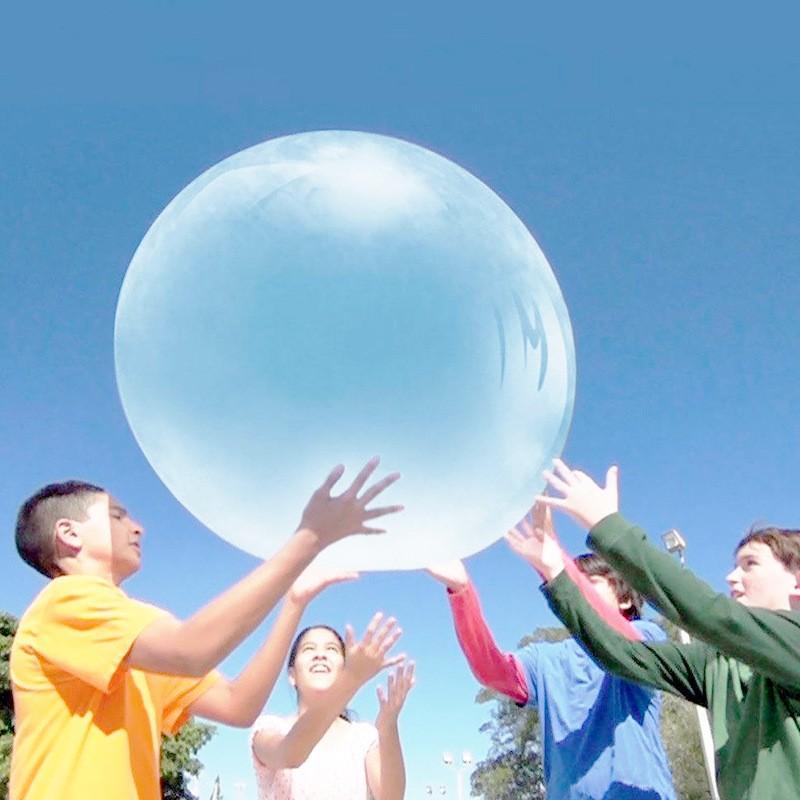 110cmまで膨らませる バブルボール 水を入れても遊べる バブルバンパー プールボール ウォーターファンのおもちゃ ガーデンローンプレイ komonogenza 03