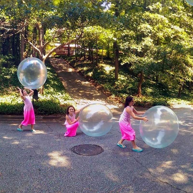 110cmまで膨らませる バブルボール 水を入れても遊べる バブルバンパー プールボール ウォーターファンのおもちゃ ガーデンローンプレイ komonogenza 04