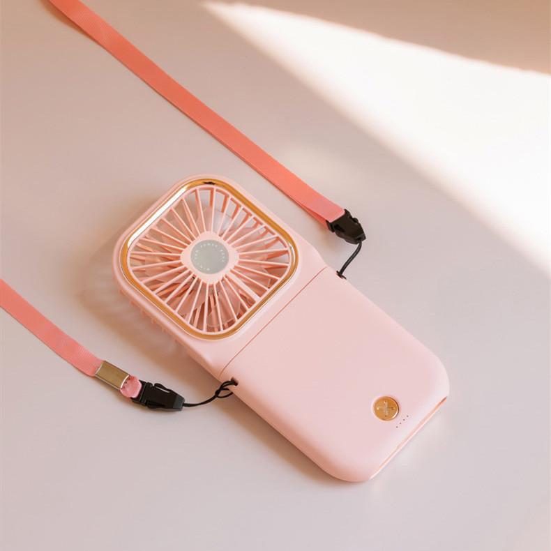 ハンディファン ミニ扇風機 首かけ 静音 ハンディ 扇風機 手持ち 卓上 携帯 折りたたみ 手持ち扇風機 卓上扇風機 USB充電 給電機能 komonogenza 09