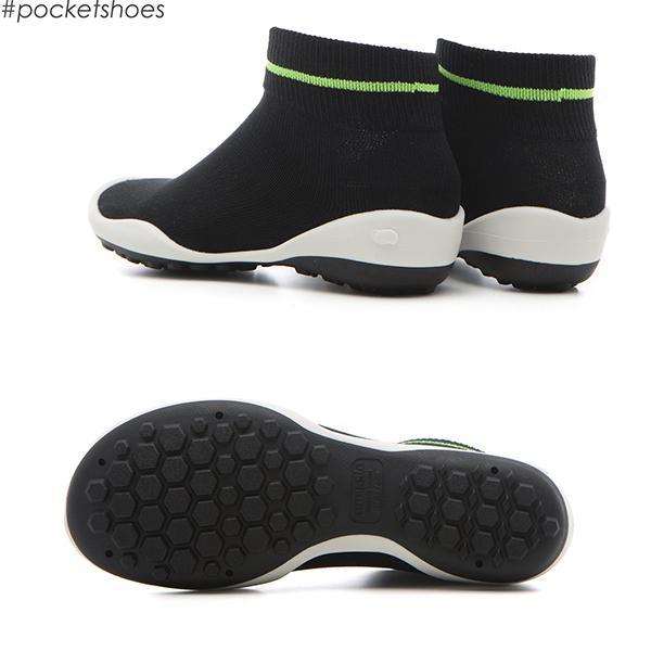 レディースシューズ 超軽量 フラットシューズ オフィスシューズ 「ポケットシューズ」 ポーチに入れ 持ち運び さまざまなシーンで活躍 女性靴(ラインブラック)|komuellopoketshoes|03