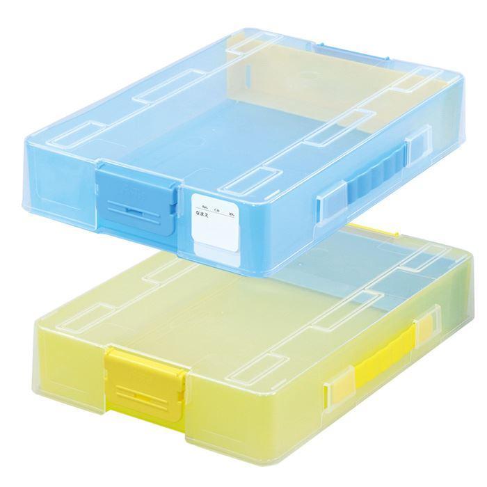 あすつく おどうぐばこ A4サイズ プラスチック製 道具箱 日本製 クリアカラー 多機能 ケース 収納 文房具 学校 幼稚園 子供 片付け 整理整頓 konan