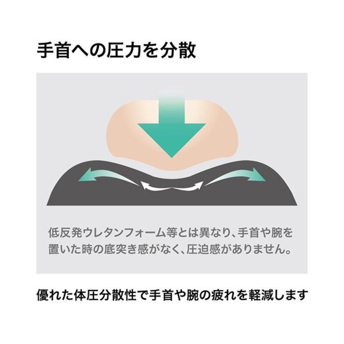 キーボード用リストレスト(レザー調素材、ブラック) サンワサプライ TOK-GELPNXLBK konan 04