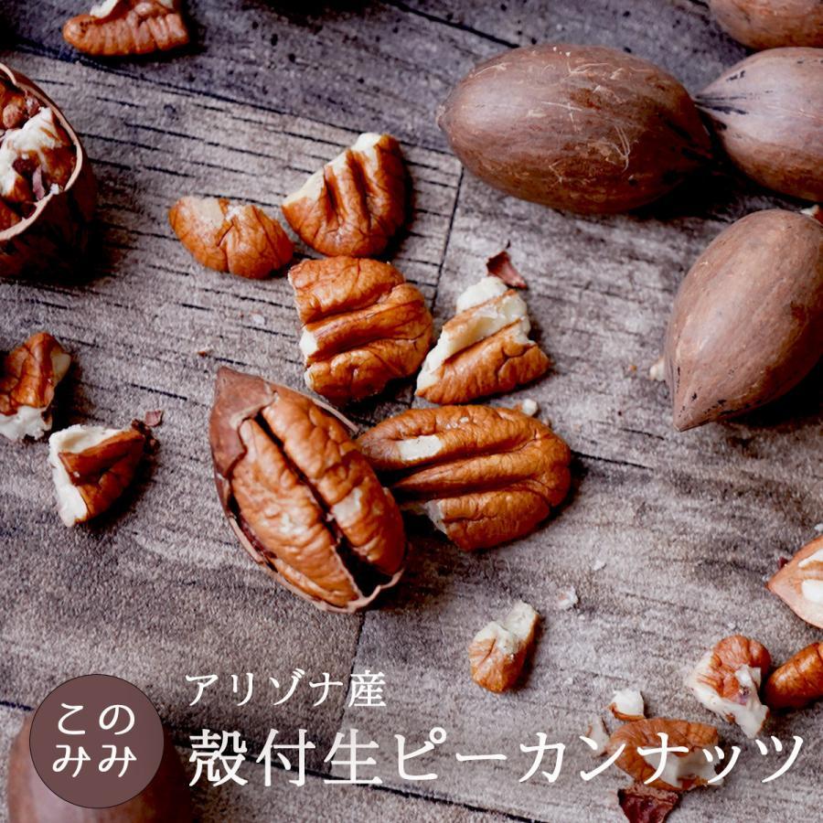 ピーカンナッツ 殻付き 生 200g ナッツ 日本初輸入 オイル不使用 無塩 ピーカンパイ 健康 くるみ おつまみ 製パン  お中元 おやつ クルミ科 konomimi
