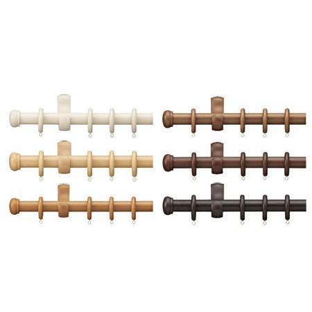 タチカワ カーテンレール ディアウッド28 プレーンフィニアル 3.1m シングル正面付けセット