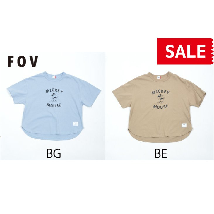 FOV / フォブ  子供服 MICKEY 6分丈Tシャツ ビッグシルエット 男の子 女の子 2021SS|kooka
