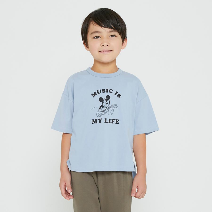 FOV / フォブ  子供服 MICKEY 6分丈Tシャツ ビッグシルエット 男の子 女の子 2021SS|kooka|03