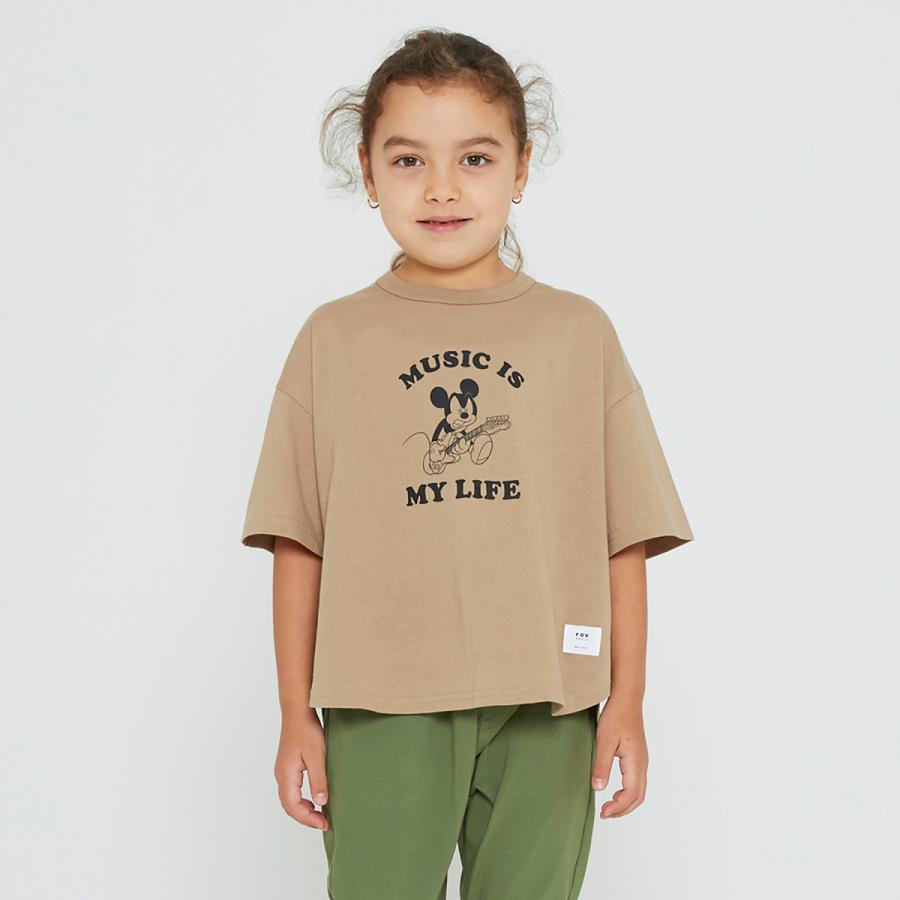 FOV / フォブ  子供服 MICKEY 6分丈Tシャツ ビッグシルエット 男の子 女の子 2021SS|kooka|04