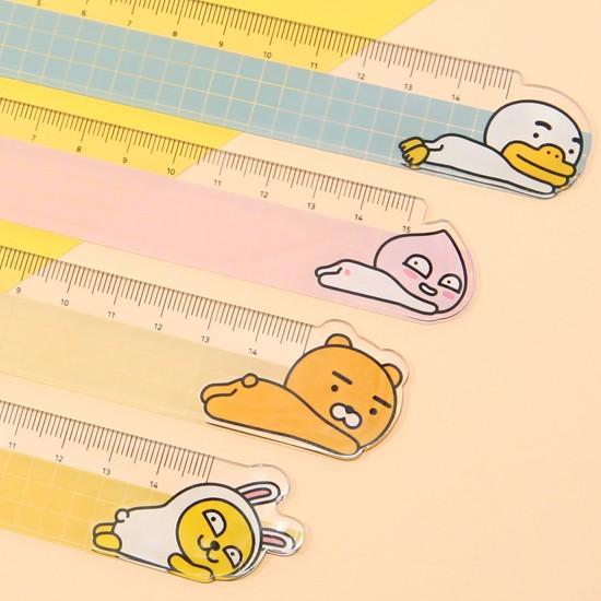 【韓国文具】カカオフレンズ 15cm 定規 [文房具][ものさし][かわいい][KAKAO FRIENDS]|korea-info