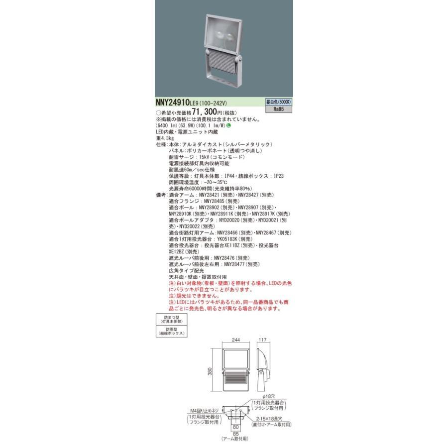 LED 水銀灯200形1灯器具相当/ パネル付型 Panasonic