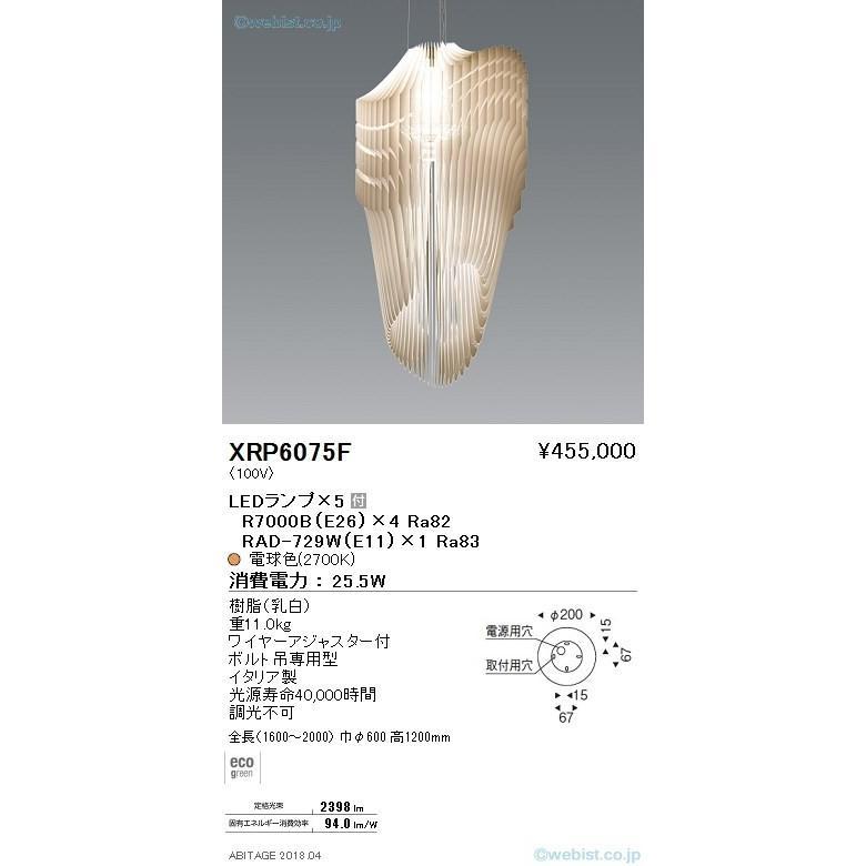 遠藤照明 XRP6075F ペンダント LED 【K区分】