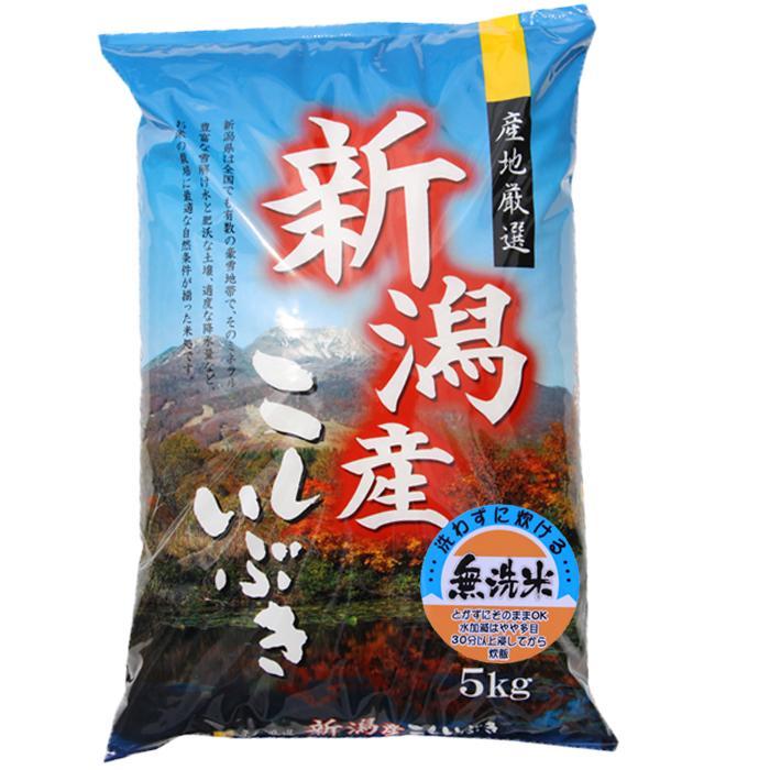 無洗米 5キロ 無洗米5kg 新潟県産 こしいぶき5kg (5kg×1袋) 5kg 無洗米 5キロ 農家直送 こしいぶき 5キロ 令和2年産 美味しいお米|kosihikari