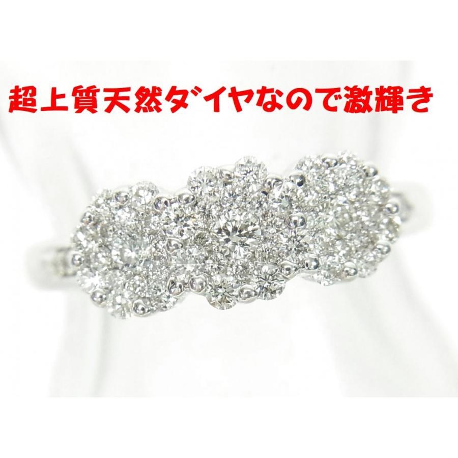 特別価格 とても装着感がいいので毎日してください超上質天然ダイヤモンド合計0.5ct 花形18金ホワイト製リング 卸価格でご奉仕 送料無料!, フジシロマチ c934d67c