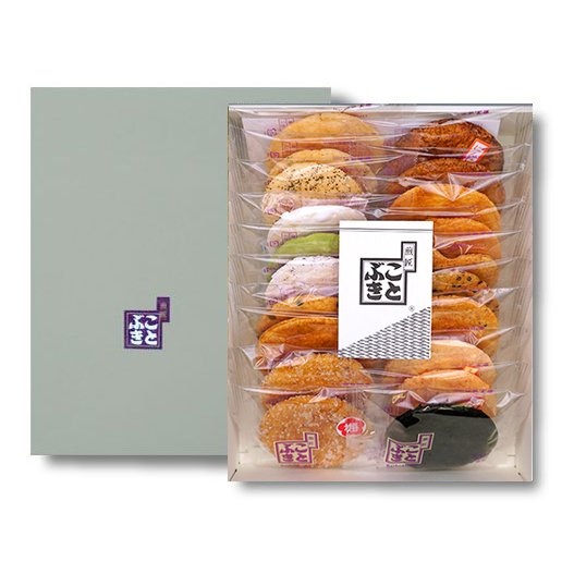 せんべい いろいろ詰合せ 合計21枚入り20種類の味が楽しめます|kotobukiseika