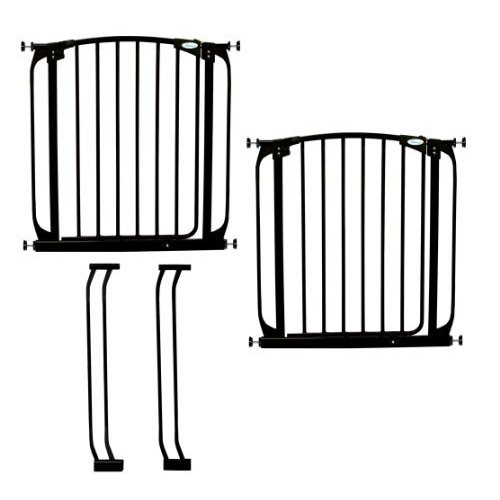 Dreambaby Chelsea Auto Close Security Gate in Black Value Pack (Includes 2 Gates and 2 Extensions) by Dreambaby【並行輸入品】