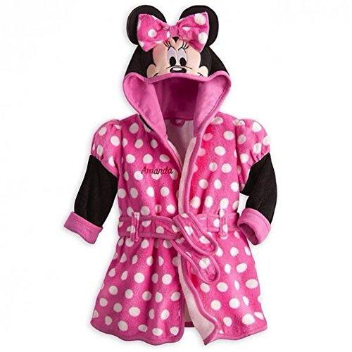 Disney StoreデラックスMinnie Mouse Bath Robeタオルベビー赤ちゃんピンク6·9ヶ月の【並行輸入品】