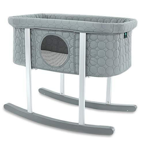 Baby Bassinet Cradle Includes Gentle Rocking Feature, Great for Newborns and Infants Safe Mattress Includes Wheels for Easy Movement High En