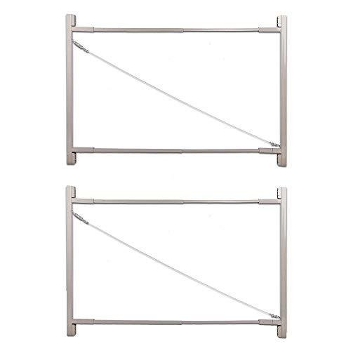"""adjust-a-gateゲート建物キット、36·"""" - 72·"""" Wide Opening Up To 6·' High (2パック)【並行輸入品】"""
