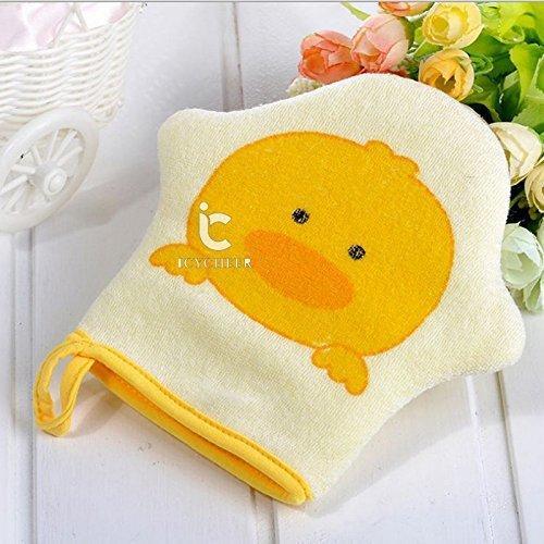 ICYCHEER Baby Bath Towel Shower Sponge Animal Modeling Rub Towel For Newborn Babies Toddlers Kids (duck)【並行輸入品】