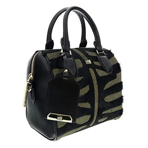 Roberto Cavalli HXLPHH 999 Black/Olive Bowling Bag for Womens【並行輸入品】