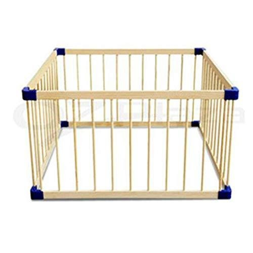 GOHHK Without Door Baby Child Gate Crawling Guardrail Baby Safety Toddler Bar Children Play Fence Solid Wood (Color : Natural, Size : 110 11