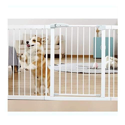 Baby Gate Pet Barrier Extra Wide Stair Railing Safety Fence with Door Baby Stairway Shatter-Resistant Guard Railing Dog Fence Isolation Door
