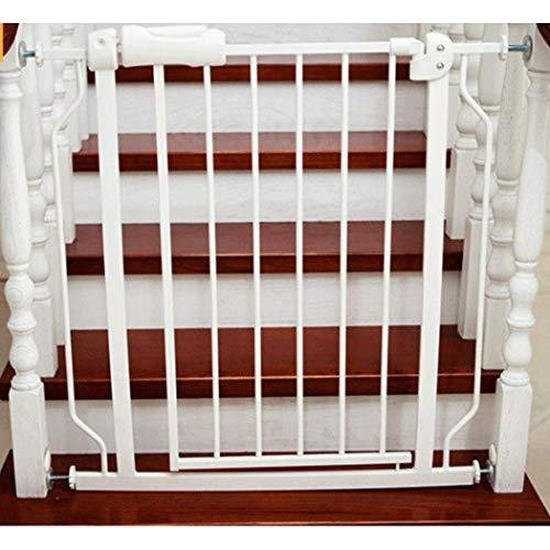 GOHHK Security Door Gate Pet Dog Fence Isolation Baby Child Baby Stairway Fence Indoor Balcony (Color : White, Size : 146~157.9cm)【並行