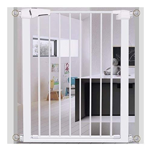 GOHHK Barrier Pet Baby Gate for Stairs 96CM High Extra Wide Auto Closed Balcony Railing with Door Dog Play Fence Pressure Mount (Color : Wid