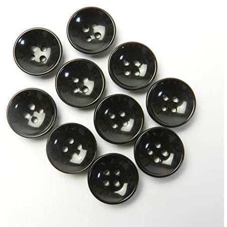 こげ茶色系 ナット調ボタン 13.5mm 4穴 100個入り SP5121T-13.5-DBR-248 (こげ茶色) kotoshiro 02
