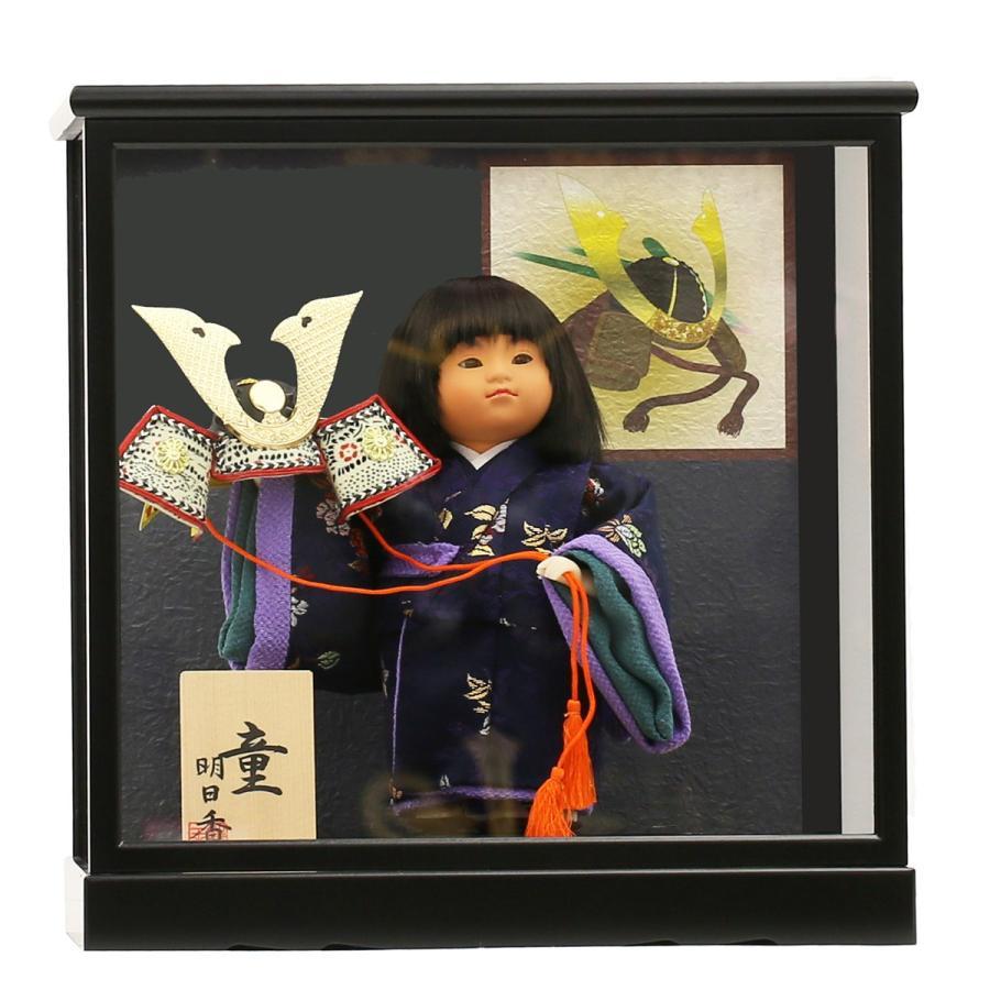五月人形 初節句 コンパクト ケース飾り ケース 武者人形 子供の日 端午の節句 2019年新作 童人形6号 大将 おしゃれ オシャレ