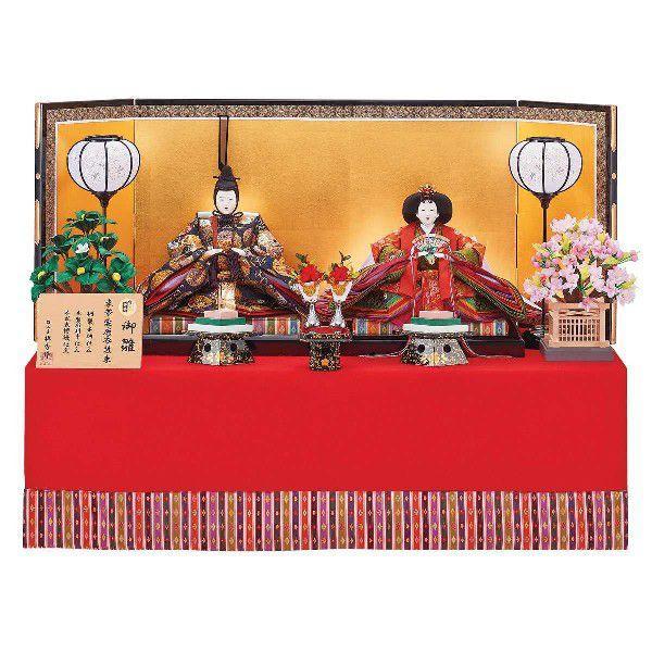 ひな人形 雛人形 2019年 名入れ木札 工房天祥オリジナル 純金正絹仕立て 小十番親王 新作
