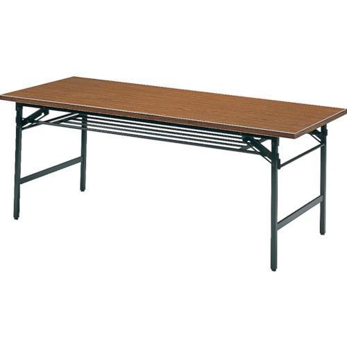 TRUSCO 折りたたみ会議テーブル 900X600XH700 チーク 0960 8000