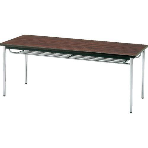 TRUSCO 会議用テーブル 1500X900XH700 丸脚 ローズ TDS-1590T RO 8000
