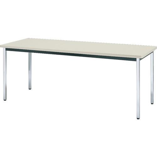 TRUSCO 会議用テーブル 1800x750xH700 角脚 下棚無 NG TDS-1875 NG  8000