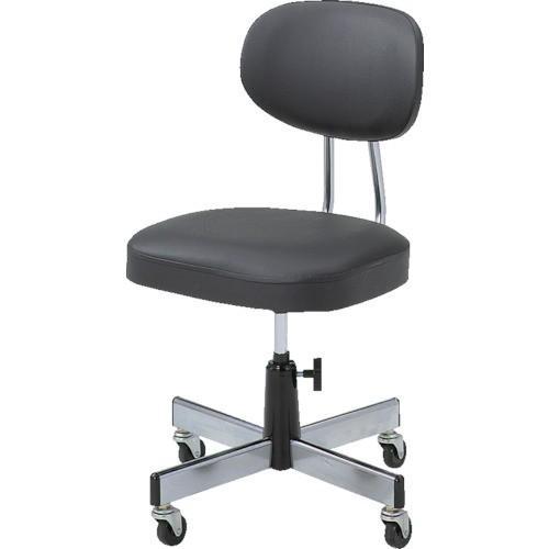 TRUSCO 事務椅子 事務椅子 ビニールレザー張り ブラック L-20958000