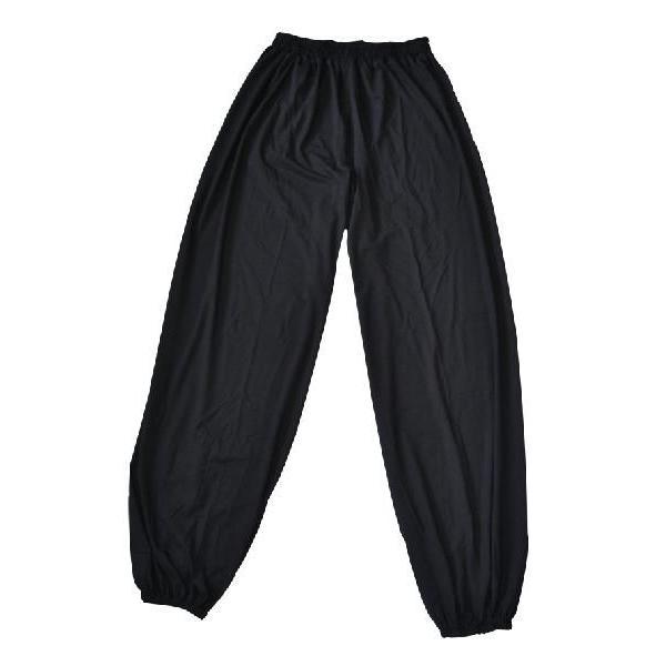 黒色シルク綿太極拳パンツ