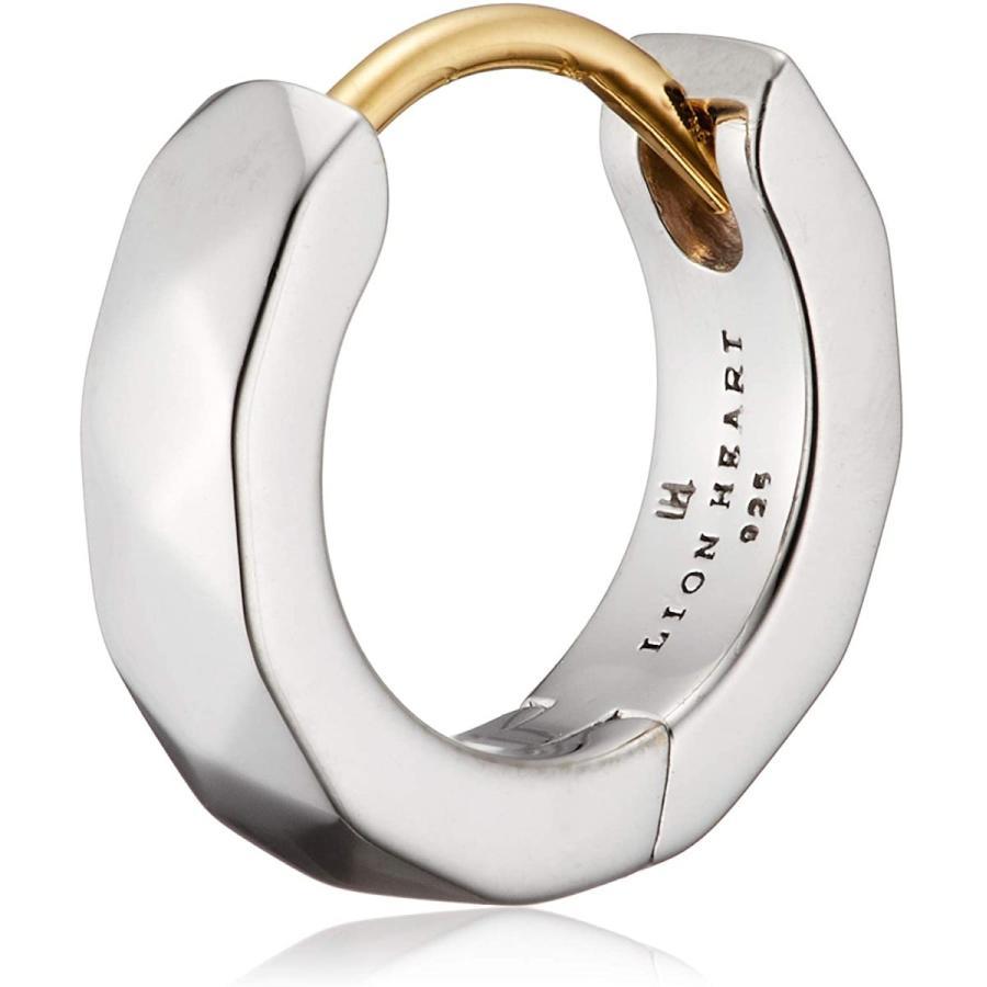 新品 正規品 ライオンハート LION HEART フープ シングル 片耳 ピアス シルバー925 SV925 18金 K18 メンズ 01EA0991SV|kougasyou