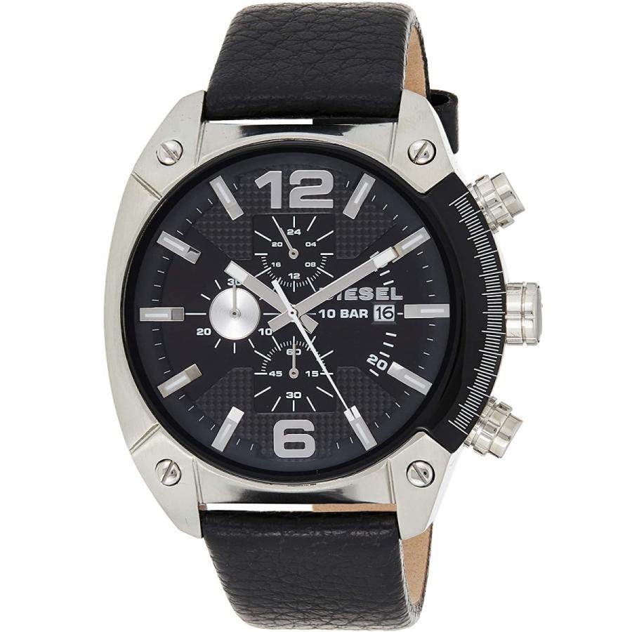 2年保証 新品 腕時計 DIESEL ディーゼル OVERFLOW オーバーフロー メンズ DZ4341 ステンレス レザー|kougasyou