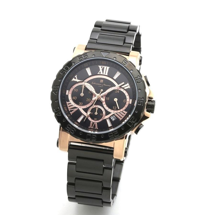 新品 2年保証 送料無料 Salvatore Marra サルバトーレマーラ 腕時計 SM20101 SM20101-PGBK メンズ 男性 ステンレス kougasyou
