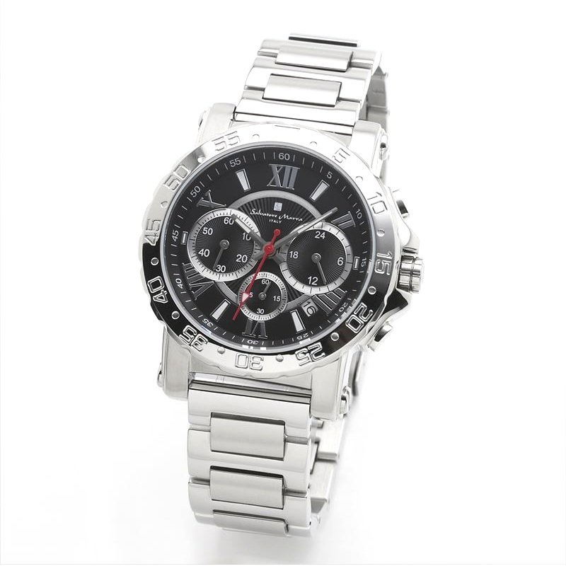 新品 2年保証 送料無料 Salvatore Marra サルバトーレマーラ 腕時計 SM20101 SM20101-SSBK メンズ 男性 ステンレス|kougasyou