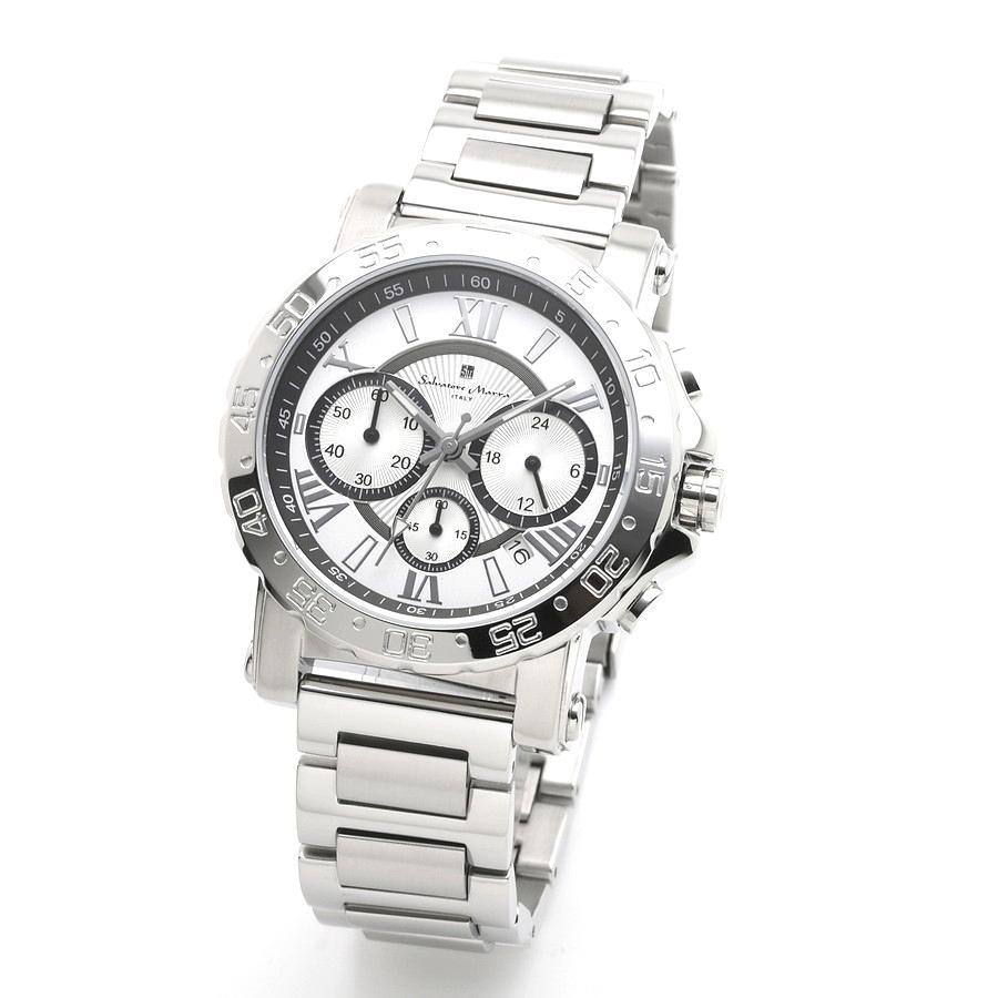 新品 2年保証 送料無料 Salvatore Marra サルバトーレマーラ 腕時計 SM20101 SM20101-SSWHBK メンズ 男性 ステンレス|kougasyou