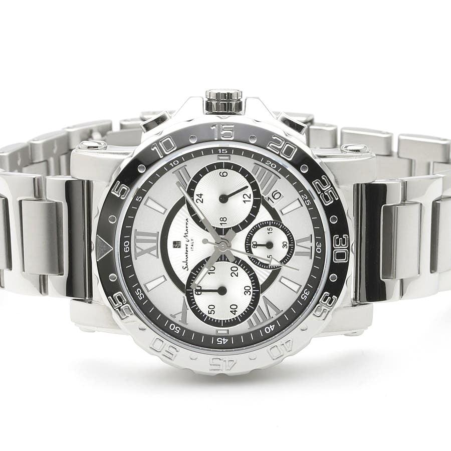 新品 2年保証 送料無料 Salvatore Marra サルバトーレマーラ 腕時計 SM20101 SM20101-SSWHBK メンズ 男性 ステンレス|kougasyou|02