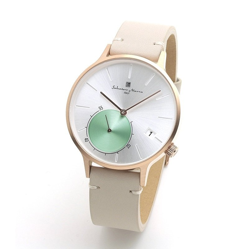 新品 2年保証 送料無料 Salvatore Marra サルバトーレマーラ 腕時計 SM20105 SM20105-PGSV ユニセックス ステンレス kougasyou