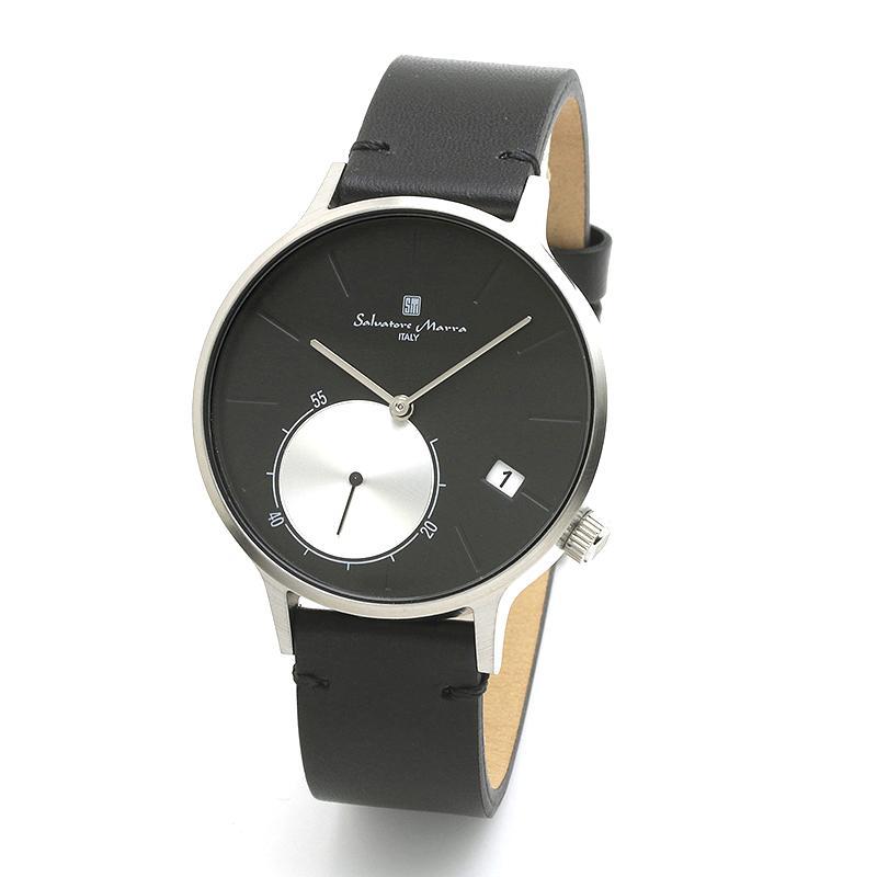 新品 2年保証 送料無料 Salvatore Marra サルバトーレマーラ 腕時計 SM20105 SM20105-SSBK ユニセックス ステンレス|kougasyou